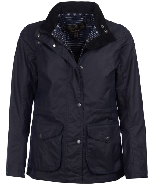Women's Barbour Fleetwood Waxed Jacket - Royal Navy