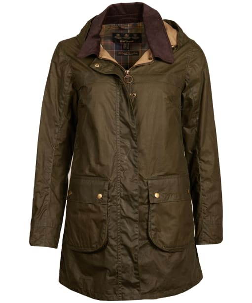Women's Barbour Lightweight Sherwood Waxed Jacket - Archive Olive
