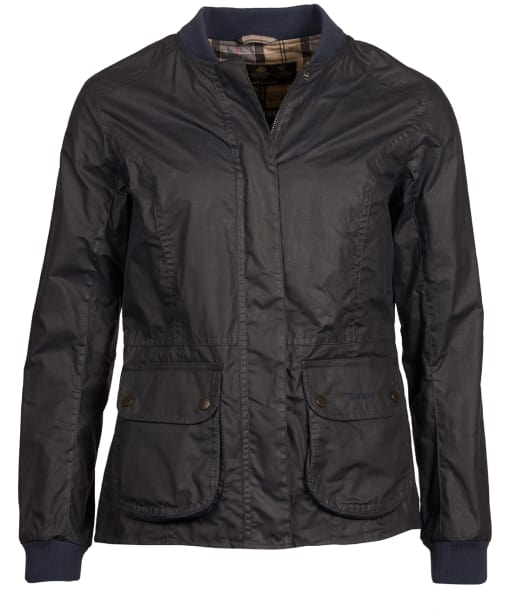 Women's Barbour Lightweight Norfolk Waxed Jacket - Royal Navy