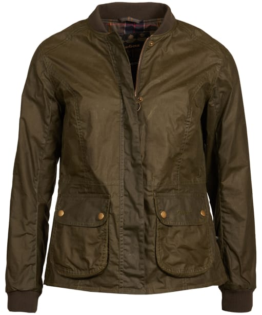 Women's Barbour Lightweight Norfolk Waxed Jacket - Archive Olive