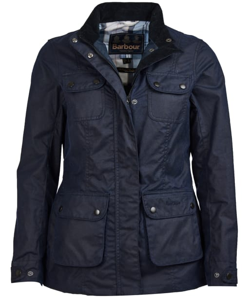 Women's Barbour x Sam Heughan Wheatsheaf Waxed Jacket - Royal Navy
