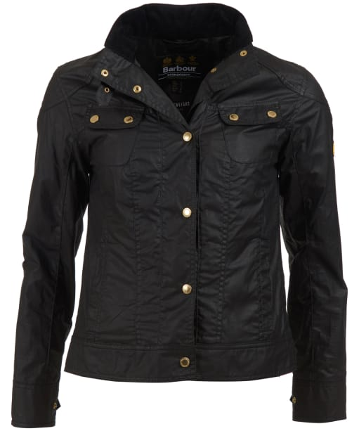 Women's Barbour International Pitch Waxed Jacket - Black