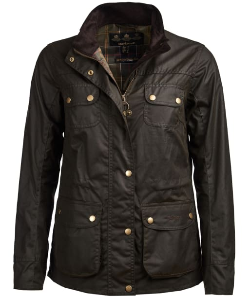 Women's Barbour Wharf Waxed Jacket - Olive