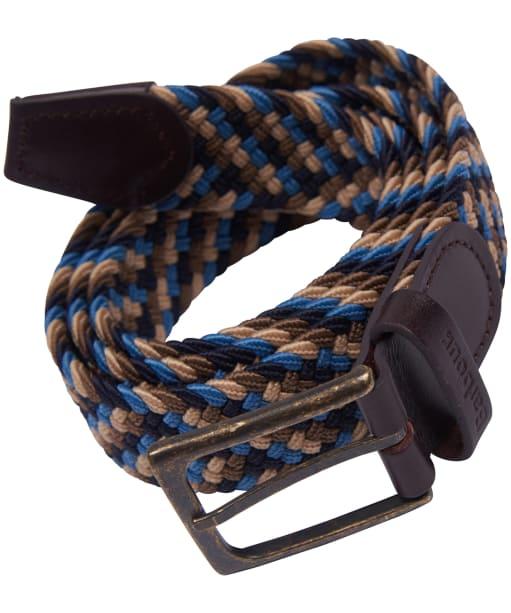 Men's Barbour Ford Belt - Blue / Navy / Stone