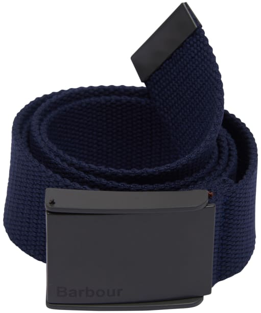 Men's Barbour Webbing Belt - Navy