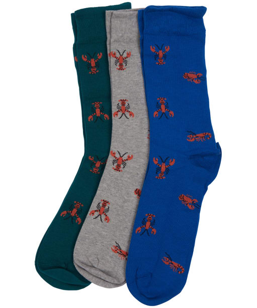 Men's Barbour Lobster Sock Gift Set - Blue / Grey / Green