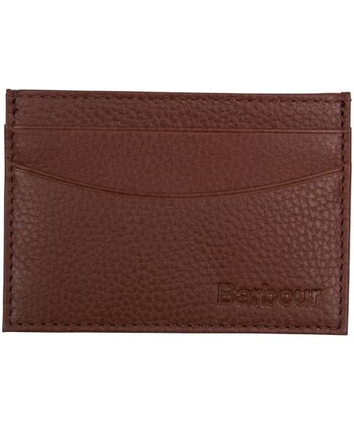Men's Barbour Two Tone Leather Card Holder - Tan