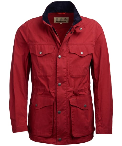 Men's Barbour Skipton Casual Jacket - Lobster Red