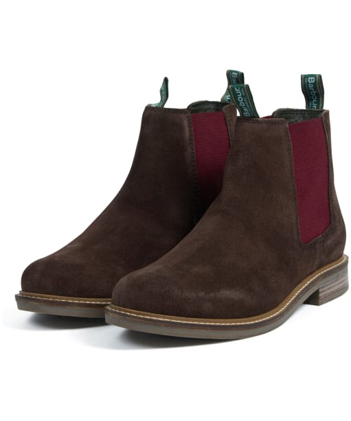 Men's Barbour Farsley Suede Boots - Brown Suede