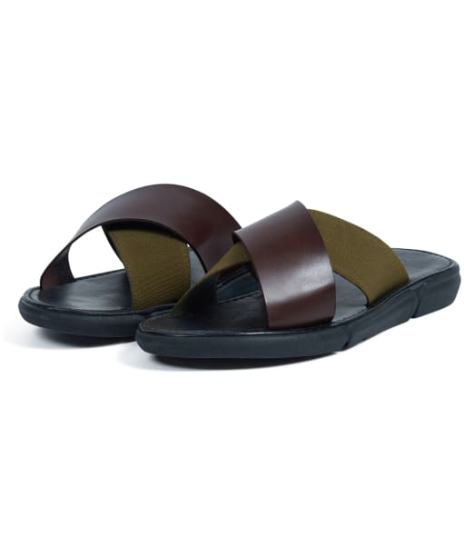 Men's Barbour Adam Sandals - Olive / Mocha