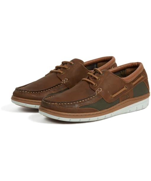 Men's Barbour Fathom Boat Shoes - Caramel Nubuck