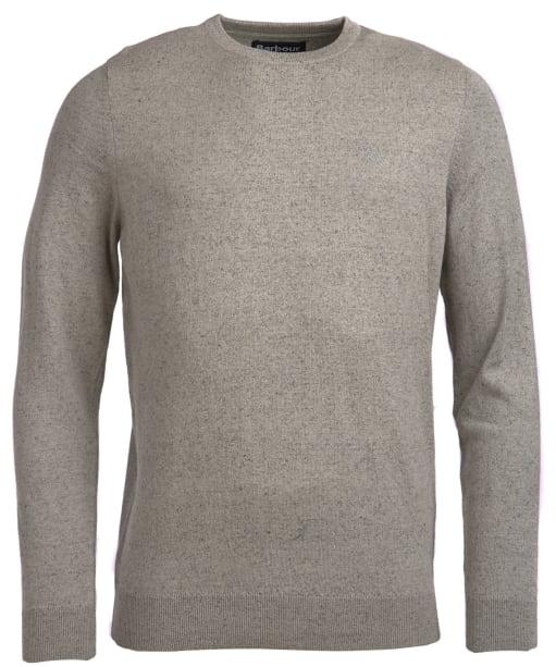 Men's Barbour Linen Mix Crew Sweater - Light Grey