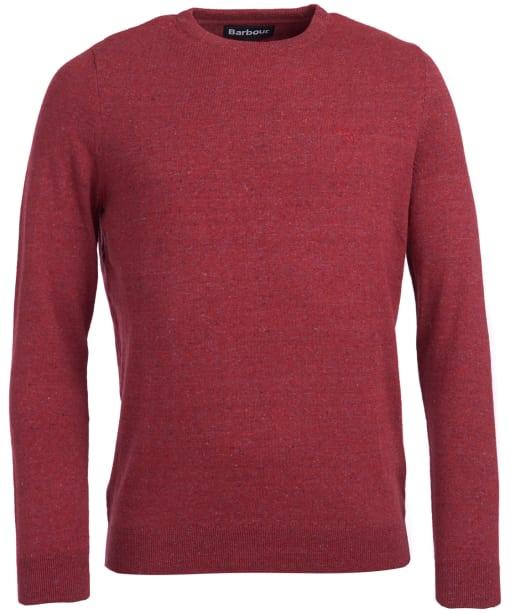 Men's Barbour Linen Mix Crew Sweater - Red