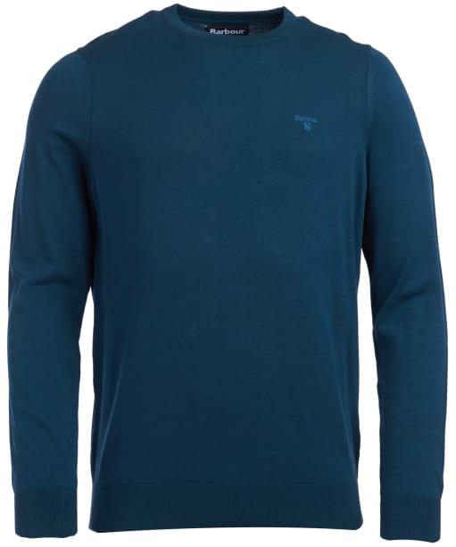 Men's Barbour Light Cotton Crew Neck Sweater - Spruce