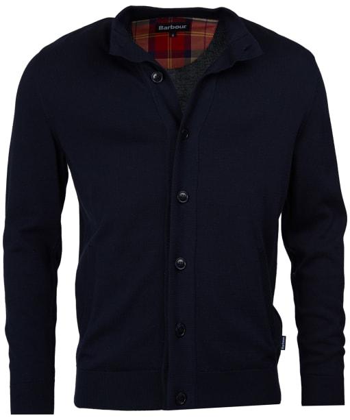Men's Barbour Huntly Button Thru Sweatshirt - Navy