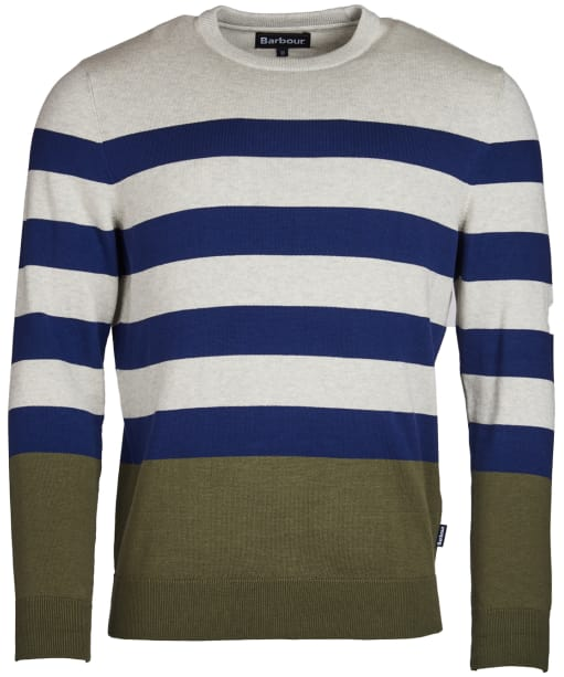 Men's Barbour Copinsay Crew Neck Sweater - Inky Blue