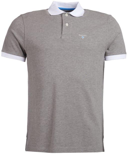 Men's Barbour Lynton Polo - Grey Marl