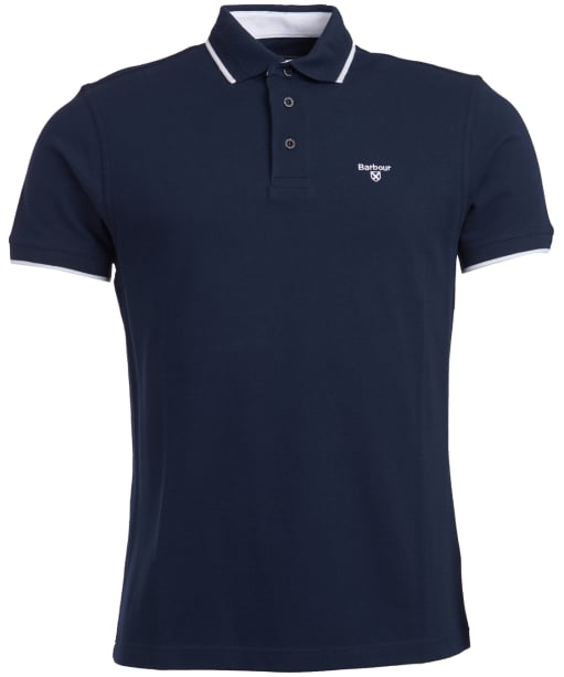 Men's Barbour Ambleside Tipped Polo Shirt - Navy