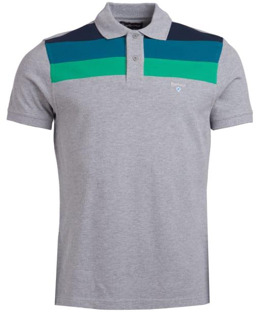 Men's Barbour Shaldon Panel Polo Shirt - Grey Marl