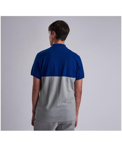 Men's Barbour International Cotter Polo - Aragon Blue