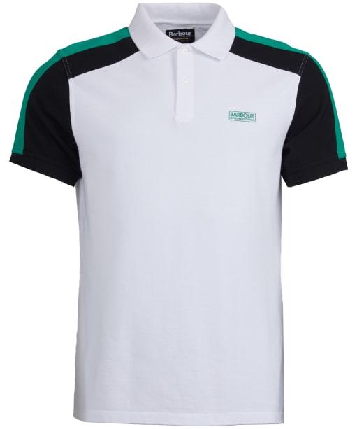 Men's Barbour International Electro Polo Shirt - White