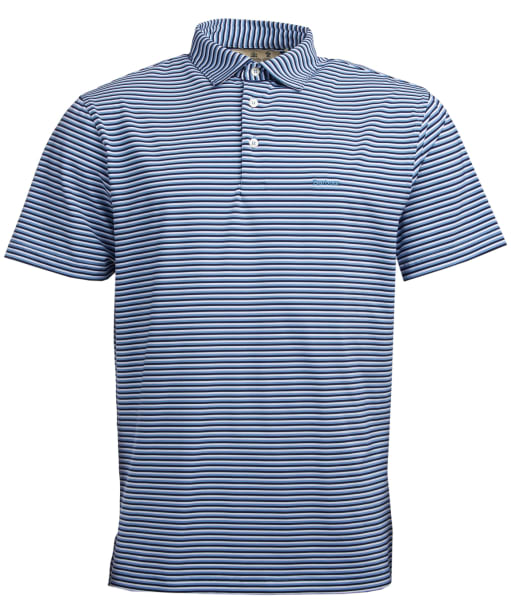 Men's Barbour Performance Stripe 2 Polo Shirt - Blue Shadow