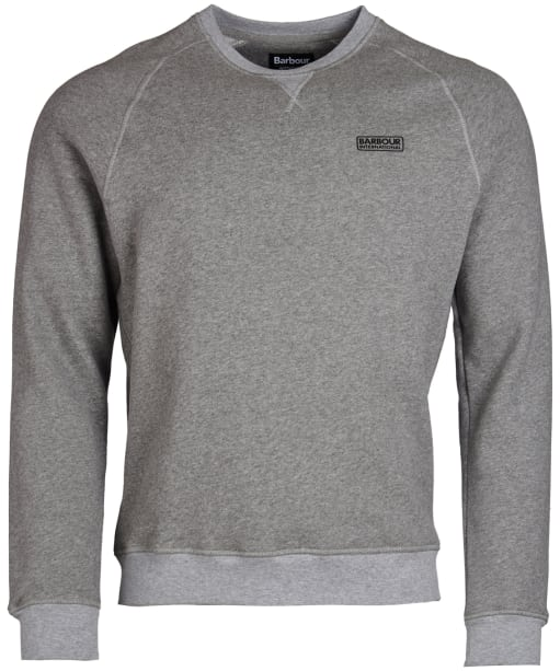 Men's Barbour International Essential Crew Neck Sweat - Anthracite Marl
