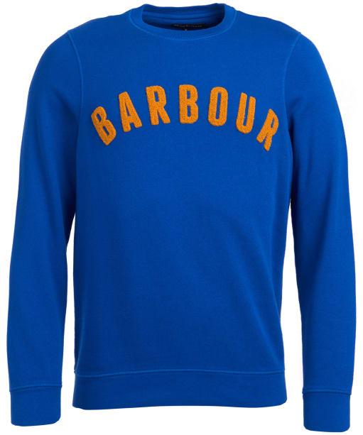 Men's Barbour Prep Logo Crew Sweater - Bright Blue