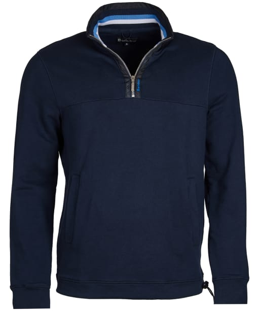 Men's Barbour Seward Half Zip Sweater - Navy