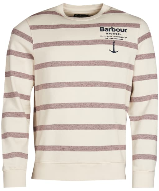 Men's Barbour Offstore Crew Neck Sweater - Ecru