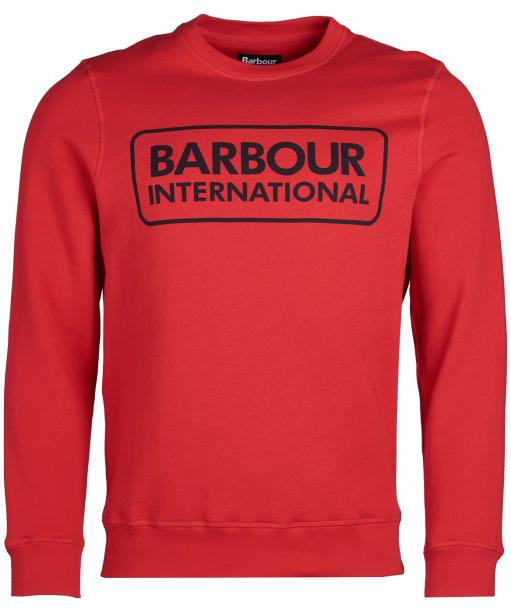 Men's Barbour International Large Logo Sweatshirt - Vibrant Red