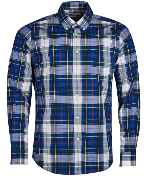 Men's Barbour Highland 5 Tailored Shirt - Electric Blue Check