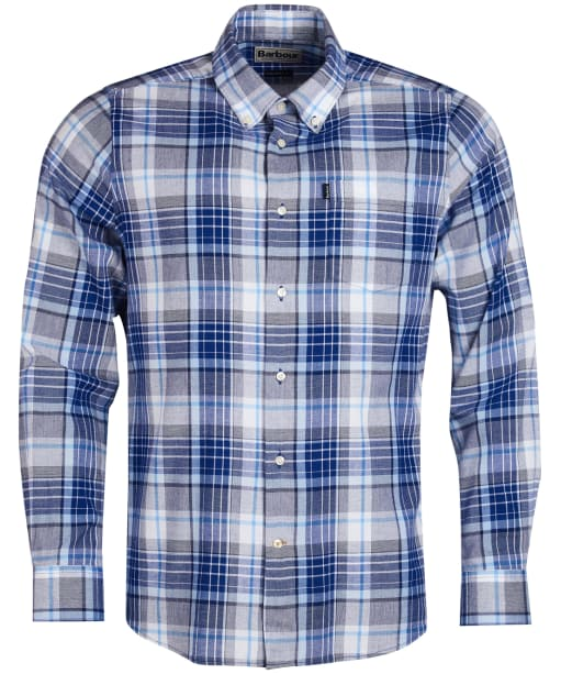 Men's Barbour Oxford Check 3 Tailored Shirt - Electric Blue Check