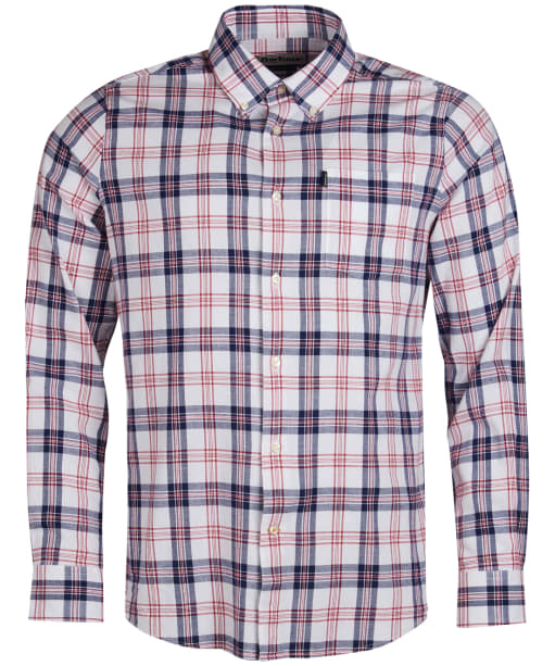 Men's Barbour Oxford Check 3 Tailored Shirt - Rich Red Check