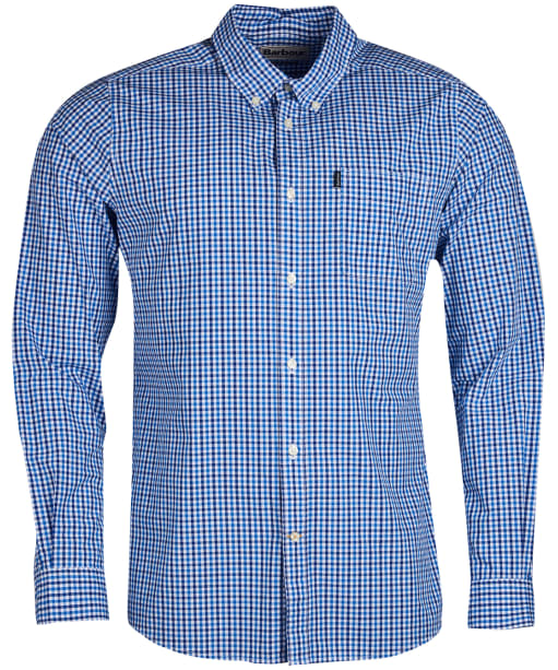 Men's Barbour Gingham 1 Tailored Shirt - Blue