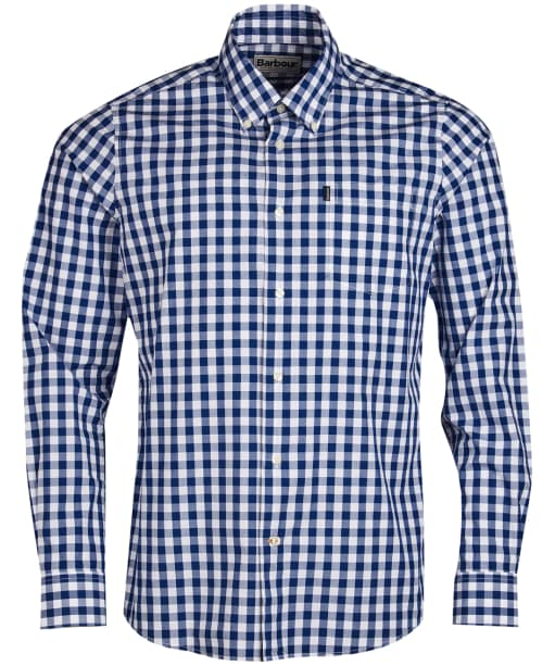 Men's Barbour Gingham 3 Tailored Shirt - Inky Blue