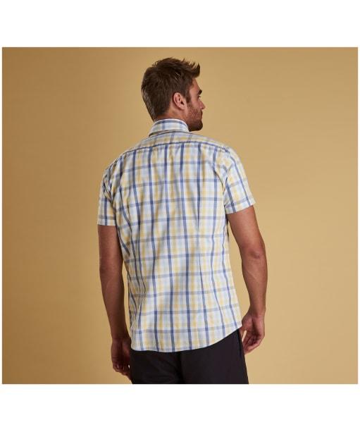 Men's Barbour Tattersall 2 S/S Tailored Shirt - Lemon