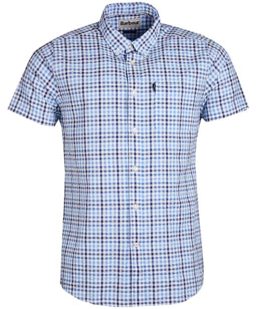 Men's Barbour Seersucker 2 S/S Tailored Shirt - Navy