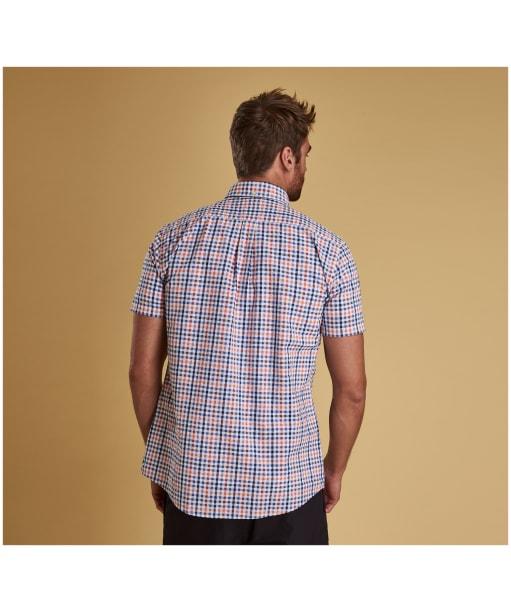 Men's Barbour Seersucker 2 S/S Tailored Shirt - Light Orange