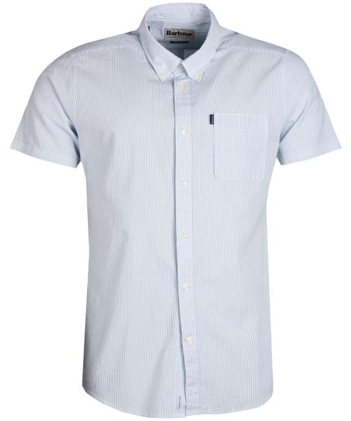 Men's Barbour Seersucker 3 Short Sleeved Tailored Shirt - Mint