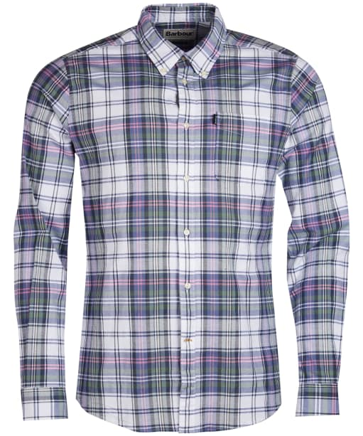 Men's Barbour Oxford Check 2 Tailored Shirt - White