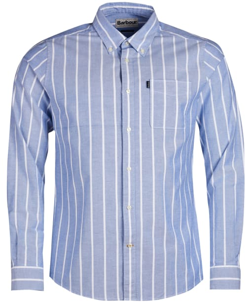Men's Barbour Oxford Stripe 1 Tailored Shirt - Blue