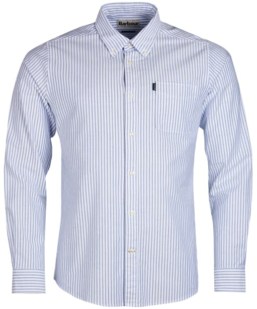 Men's Barbour Oxford Stripe 1 Tailored Shirt - White