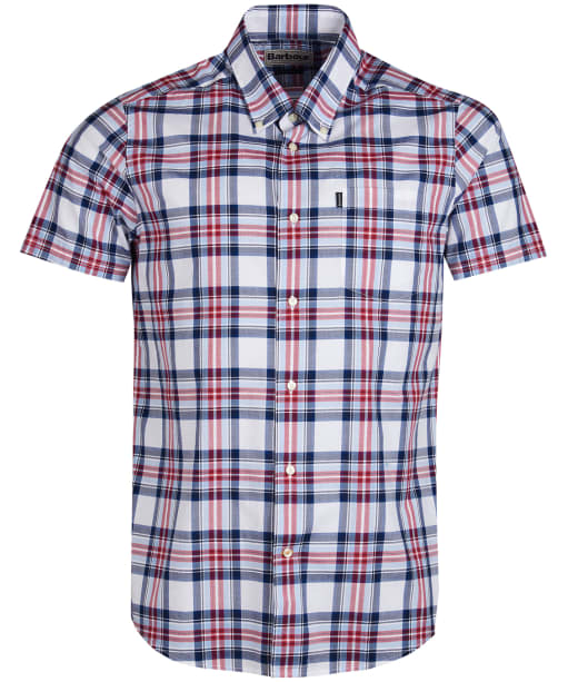 Men's Barbour Highland 6 S/S Tailored Shirt - Sky