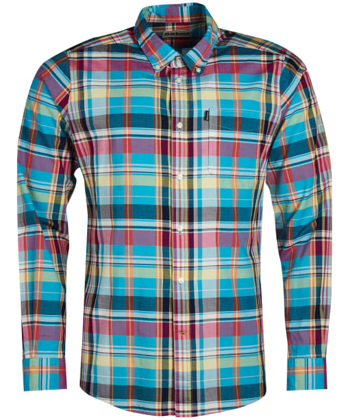 Men's Barbour Madras 2 Tailored Shirt - Aqua