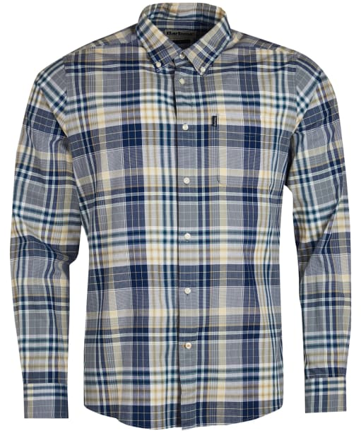 Men's Barbour Madras 2 Tailored Shirt - Inky Blue