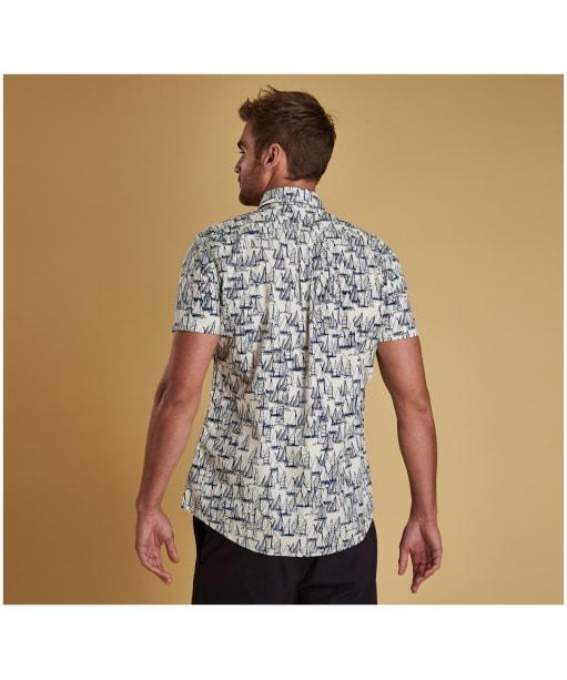 Men's Barbour Boat Short Sleeve Shirt - Ecru