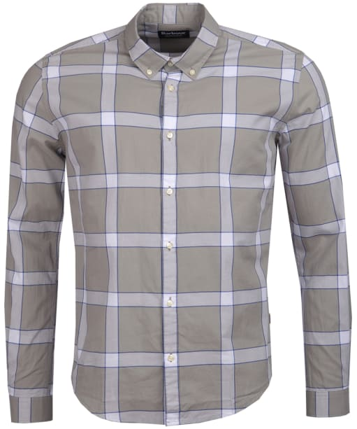 Men's Barbour International Valve Check Shirt - Battle Ship Grey
