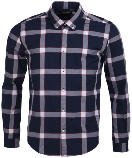 Men's Barbour International Valve Check Shirt - Navy