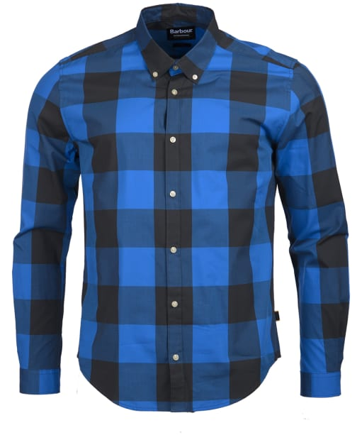 Men's Barbour International Bold Gingham Shirt - Charcoal